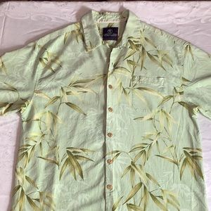Jamaica Jaxx 100% Silk Hawaiian Style Shirt Sz XL